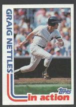 New York Yankees Graig Nettles In Action 1982 Topps Baseball Card # 506 ... - $0.50