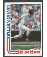 New York Yankees Graig Nettles In Action 1982 Topps Baseball Card # 506 ... - $0.50