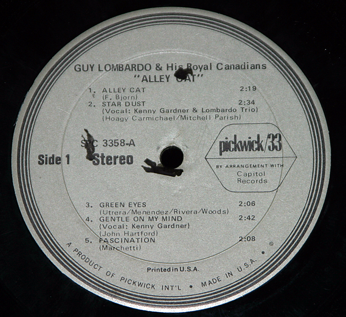"Guy Lombardo  ""Alley Cat""   LP"