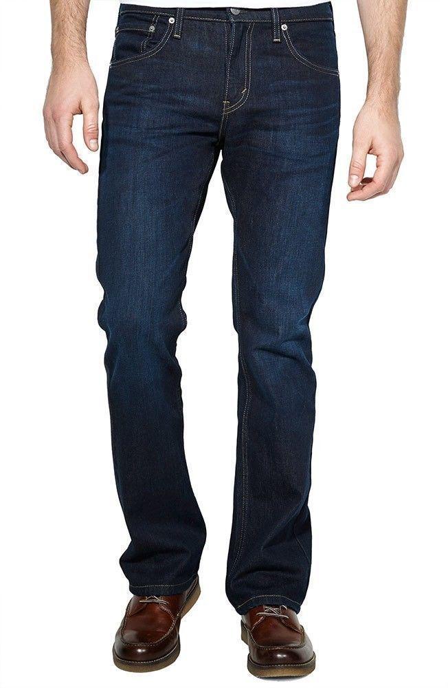 BRAND NEW LEVI'S 527 MEN'S PREMIUM CLASSIC SLIM BOOTCUT LEG JEANS BLUE 527-0490