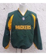 Vintage Green Bay Packers Pull Over Jacket Men Size M -S Reebok Pro Line - $28.04