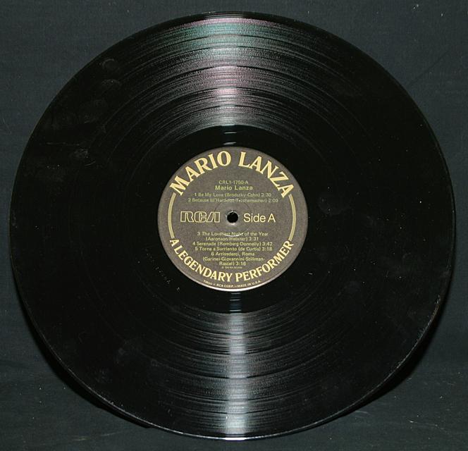 "Mario Lanza  ""A Legendary Performer""   LP"