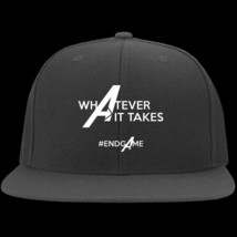 Whatever It Takes Avengers End Game Yupoong Flat Bill Twill Flexfit Cap - $23.12+