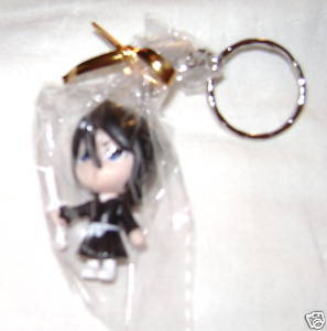 "BLEACH ANIME KEY CHAIN 2"" RUKIA CHIBI FROM JAPAN NEW!"