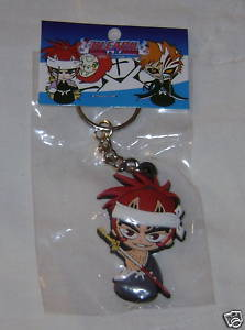 "BLEACH ANIME KEYCHAIN CHIBI RENJI 2"" KEY CHAIN NEW"