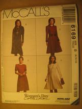 UNCUT Pattern 1991 EASY McCall SIZE Misses 8 10 12 DRESS 6169 [Z25] - $4.80