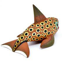 Handmade Alebrijes Oaxacan Wood Carved Painted Orca Killer Whale Figurine image 4