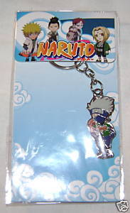 NARUTO ANIME MANGA METAL KEYCHAIN KEY CHAIN KAKASHI NEW