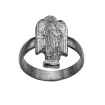 Sterling Silver Archangel St Uriel Ring Saint Medal Protection Jewelry P... - $29.00