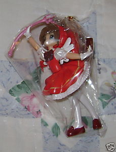 CARD CAPTOR SAKURA KINOMOTO RED DRESS KEY CHAIN JAPAN