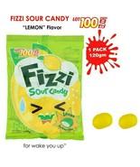 LOT 100 Fizzi SweetSour Candy Lemon Flavor Perfect Combination 120gram/p... - $13.07+