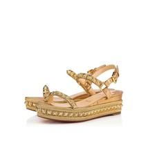 Christian Louboutin Gold Pyradiams Sandals New - $829.00