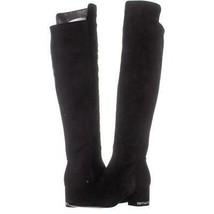 MICHAEL Michael Kors Sabrina Over The Knee Stretch Heel Chain Boots  331, Black, - $66.23