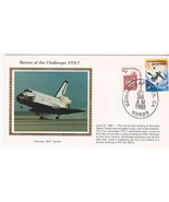 RETURN OF CHALLENGER STS-7 EDWARDS AFB CA 6/24/1983 COLORANO SILK  - $2.98