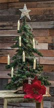 Primitive Downswept 2' green Beautiful tabletop Christmas tree - $50.00