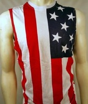 USA AMERICAN FLAG PATRIOTIC 4TH OF JULY AMERICA MUSCLE TANK TOP SHIRT - $432,09 MXN