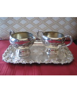 Vintage Silverplate Wm.A.Rogers Old English Reproduction Tray, Sugar, Cr... - $32.51