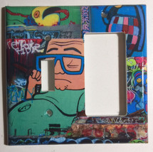 Street Art Wall Painting Boom Light Switch Power Outlet Cover Plate Home decor image 2
