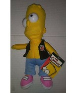 The Simpsons Bart Party Posse Band Member Hard Eyes Plush Toy NWT 9 Inches - $14.84
