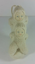 Dept 56 Snowbabies Ornament 4in One Two High Button Shoe Bootiebaby Bisq... - $9.99