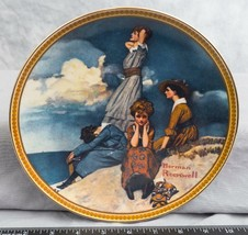"""Knowles Norman Rockwell Collectible Plate """"Waiting On The Shore""""  jds - $9.89"""