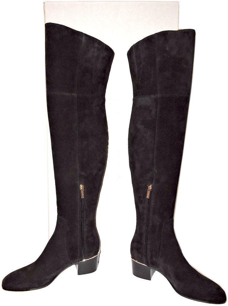 408d3d7f543  1495 Jimmy Choo Harmony Black Suede Over-The-Knee Boots Booties 37- 6.5