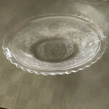 Anchor Hocking Sandwich Glass Bowl Oblong Oval Clear Pressed - $13.20