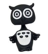 Creative Individuality Earrings Exaggerated Cartoon Owl Earrings, Black
