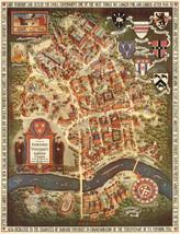 Map of Harvard University Radcliffe College Cambridge Massachusetts Wall... - $12.87