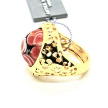 RING ANTICA MURRINA VENEZIA WITH DISC WITH MURANO GLASS RED GOLDEN AN205A14 image 7