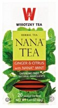 Wissotzky Tea Ginger & Citrus with Nana Mint, 20 Bags - $8.50