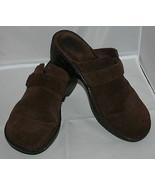 Born Zuecos Pantuflas Talla 9 40.5 Mujer Cuero Marrón Hebilla Zapatos De... - $34.10