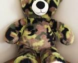 "Build A Bear Camouflage Military Army Marines Plush Bear 16"" BABW Retired"