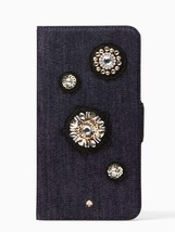 Kate Spade Denim Embellished Folio iPhone 8 Plus/7 Plus Case
