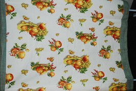 Apples Fruits Berries Gingham Plaid Tablecloth Orange/Green 52x54 Square... - $37.62