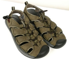 Keen Mens Sandals Sz 7 M Forest Moss Green Leather Gladiator Open Toe - $31.48 CAD