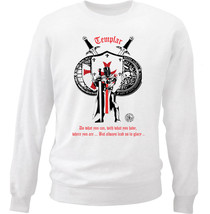 Knight Templar Lead Us To Glory 8 - New White Cotton Sweatshirt - $34.98
