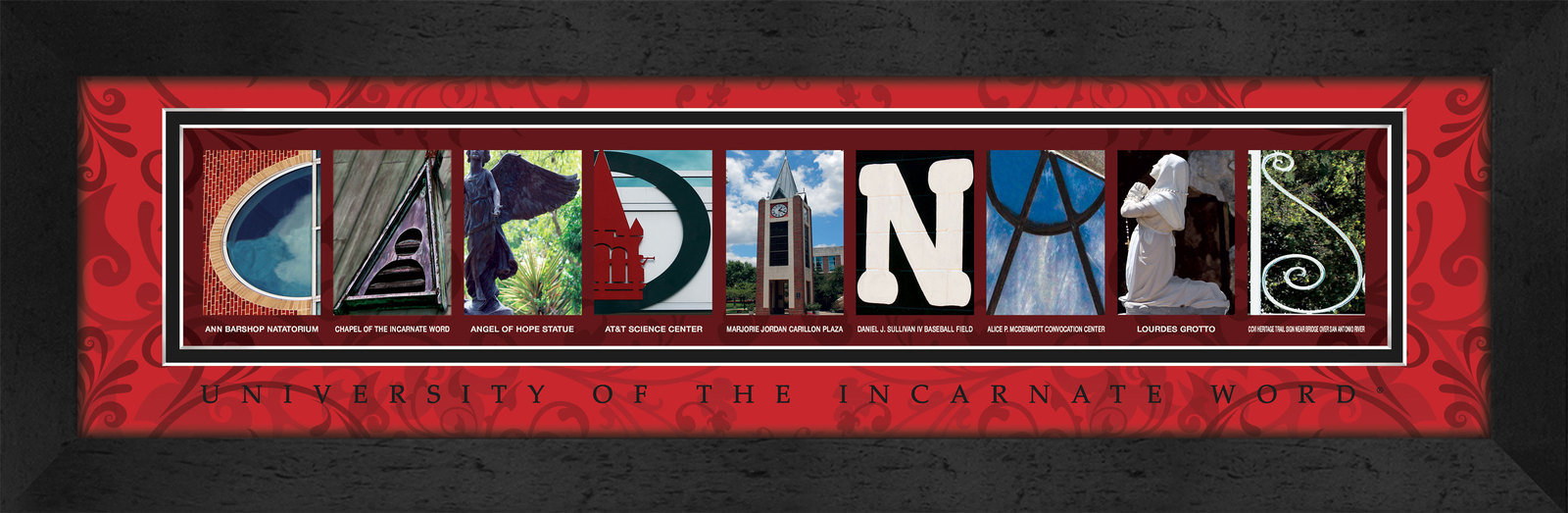 Primary image for University of the Incarnate Word Officially Licensed Framed Campus Letter Art