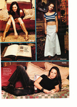 Alyssa Milano Holly Marie Combs Rose teen magzine pinup clipping white skirt