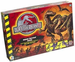 JURASSIC PARK 3 Island Survival Board Game MB 2001  - $18.35