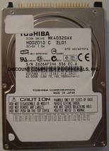 "40GB 2.5"" IDE Drive Toshiba MK4032GAX HDD21010 Free USA Ship Our Drives Work"