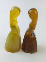 2 Mosser Glass ~ Vi Hunter ~ Jenny Dolls ~ Desert Agate & Golden Opaline - $13.86