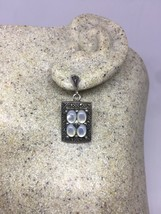 Vintage Deco Genuine Mother Of Pearl Marcasite 925 Sterling Silver Earrings - $67.32