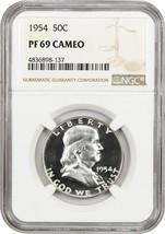 1954 50c NGC PR 69 CAM - Registry Quality Gem - Franklin Half Dollar - $7,740.60