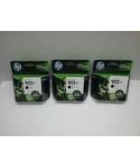 3 Genuine HP CC654AN 901XL Black Ink Cartridge OfficeJet 3x More Pages  Sep/2015 - $33.00