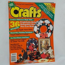 Crafts Magazine Halloween 36 Projects Oct 1987 Patterns Crochet Needlepoint - $14.99