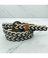 Old Navy Multicolor Skinny Braided Woven Leather Belt Size Small S - $18.60