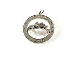 1986 Sterling Silver NEO-LIFE Convention Dolphins Charm 6 26 2017 - $24.74