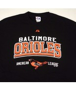 Baltimore Orioles Majestic Black T Shirt Sz XL MLB AL Baseball - $22.99