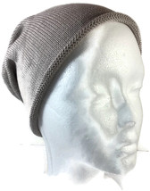 Grey Beanie Hat Collection XIIX Cotton Acrylic Knit One Size Cap Gray - NWT - ₨320.45 INR